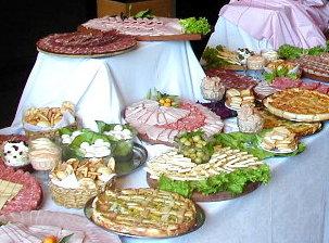 Mesa de quesos y fiambres